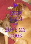 KEEP CALM AND LOVE MY DOGS - Personalised Poster large
