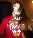 KEEP CALM and LOVE MY duck - Personalised Poster large