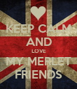 KEEP CALM AND LOVE MY MERLET FRIENDS - Personalised Poster large