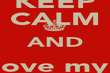 KEEP CALM AND love my  sexy body - Personalised Poster large