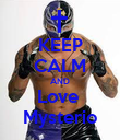 KEEP CALM AND Love  Mysterio - Personalised Poster large