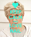 KEEP CALM AND LOVE NAIL - Personalised Poster large