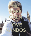 KEEP CALM AND LOVE NANDOS - Personalised Poster large