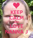 KEEP CALM AND LOVE NANNA J - Personalised Poster large