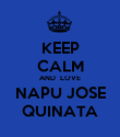 KEEP CALM AND  LOVE NAPU JOSE QUINATA - Personalised Poster large