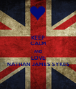 KEEP CALM AND LOVE NATHAN JAMES SYKES - Personalised Poster large