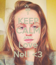 KEEP CALM AND Love Nell <3 - Personalised Poster large