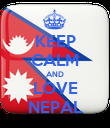 KEEP CALM AND LOVE NEPAL - Personalised Poster large