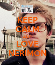 KEEP CALM AND LOVE NERIMON - Personalised Poster large