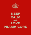 KEEP CALM AND LOVE NIAMH CORE - Personalised Poster large