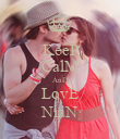 KeeP CalM AnD LovE NiaN - Personalised Poster large
