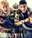KEEP CALM AND LOVE NIAYN<3 - Personalised Poster large