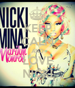 KEEP CALM AND LOVE NICKI - Personalised Poster large