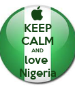 KEEP CALM AND love  Nigeria - Personalised Poster large