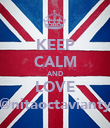 KEEP CALM AND LOVE @nitaoctavianty - Personalised Poster large