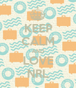 KEEP CALM AND LOVE NRL - Personalised Poster large