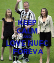 KEEP CALM AND LOVE NUFC  FOREVA - Personalised Poster large