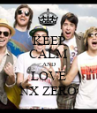 KEEP CALM AND LOVE NX ZERO - Personalised Poster large