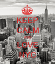 KEEP CALM AND LOVE NYC - Personalised Poster large