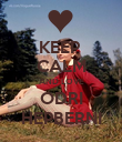 KEEP  CALM AND LOVE ODRI HEPBERNI - Personalised Poster large