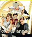 KEEP CALM AND love  of our angels - Personalised Poster large