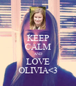 KEEP CALM AND LOVE OLIVIA<3 - Personalised Poster large
