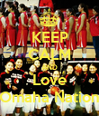 KEEP CALM AND Love Omaha Nation - Personalised Poster large