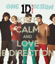 KEEP CALM AND LOVE ONE DIRECTION <3 - Personalised Poster large
