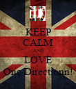 KEEP CALM AND LOVE One Directionn! - Personalised Poster large