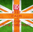 KEEP CALM AND LOVE ONE DIRETION - Personalised Poster large