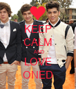 KEEP CALM  AND LOVE ONED - Personalised Poster large
