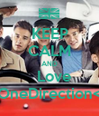 KEEP CALM AND   Love   OneDirection<3 - Personalised Poster large
