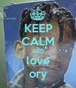 KEEP CALM AND love ory - Personalised Poster large