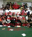 KEEP CALM AND LOVE OSIS SMPN 247 JHS 2012-2013 - Personalised Poster large