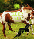 KEEP CALM AND LOVE PAINTS - Personalised Poster large