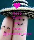 Keep Calm And Love @paradise_anjel - Personalised Poster large