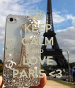 KEEP CALM AND LOVE PARIS <3 - Personalised Poster large
