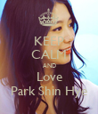 KEEP CALM AND Love Park Shin Hye - Personalised Poster large