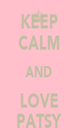 KEEP CALM AND LOVE PATSY - Personalised Poster large