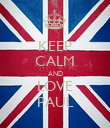KEEP CALM AND LOVE PAUL - Personalised Poster large