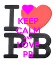 KEEP CALM AND LOVE PB - Personalised Poster large