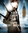 KEEP CALM AND LOVE PECRY JACKSON - Personalised Poster large