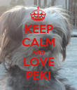 KEEP CALM AND LOVE PEKI - Personalised Poster large