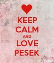 KEEP CALM AND LOVE PESEK - Personalised Poster large