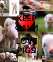 KEEP CALM AND LOVE PIGS - Personalised Poster large