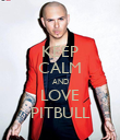 KEEP CALM AND LOVE PITBULL - Personalised Poster large