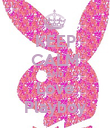 KEEP CALM AND Love Playboy - Personalised Poster large