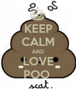 KEEP CALM AND LOVE POO  - Personalised Poster large