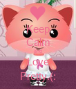 Keep Calm and Love Pretty.(: - Personalised Poster large
