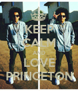 KEEP CALM AND LOVE PRINCETON - Personalised Poster large